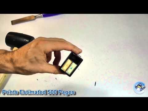 Inside HP 57 Tri-Colour Ink Cartridge (C6657A)