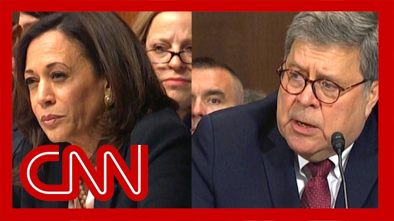 William Barr stumped by Kamala Harris' question