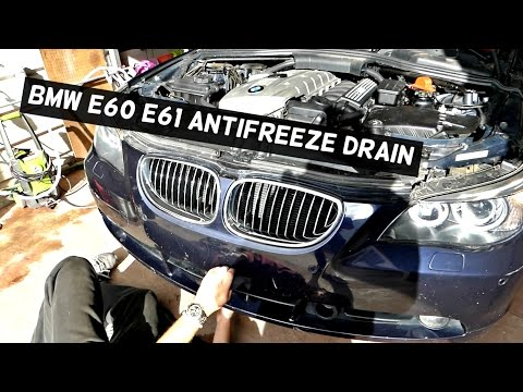 BMW E60 E61 HOW TO DRAIN COOLANT ANTIFREEZE COOLING SYSTEM