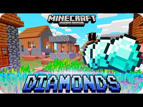 Minecraft PE Seeds - 2 Villages, 2 Temples and 17 DIAMONDS Seed! 0.16.0 / 0.15.0 MCPE