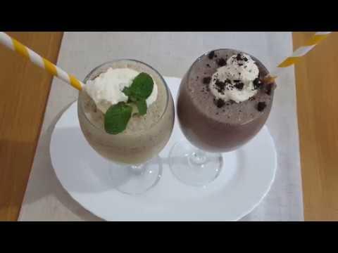 How To Make Oreo Milkshake & Mint chocolate Chips Milkshake