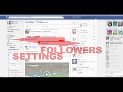 How to Enable Facebook Follow Button on Your Profile