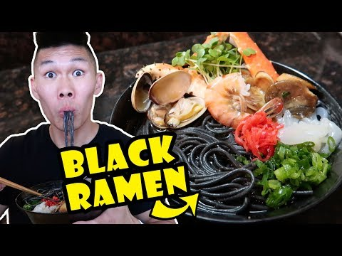 watch BLACK RAMEN NOODLES + SEAFOOD RECIPE UPGRADE || Life After College: Ep. 552