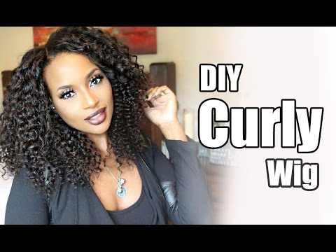 Diy Curly Wig with WowAfrican Virign Brazilian Afrocurl bundles