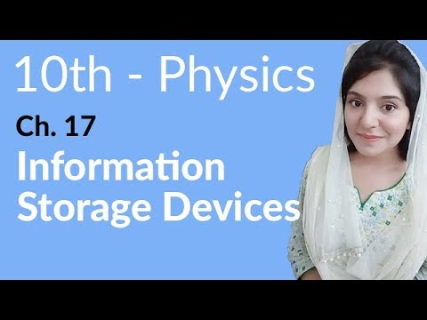 10th Class Physics Ch 17,Information Storage Devices -Matric Part 2 Physics Chapter 17