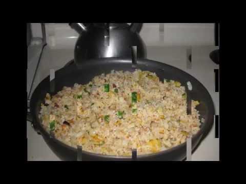 Char-siu Fried Rice - CACH LAM COM RANG THIT XA XIU - How to make fried rice char siu & pineapple