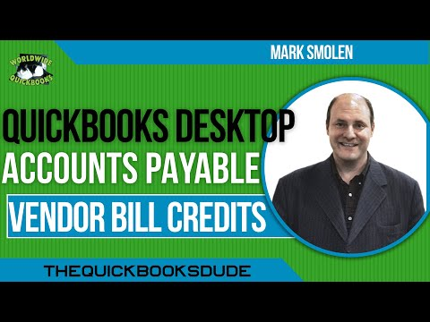 Learn QuickBooks Video 8 - Credits From Vendors