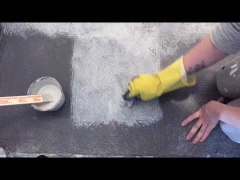 How to blend glaze on a painted floor