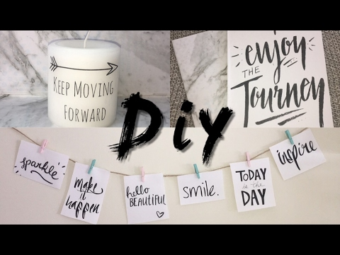 Diy Projects with quotes | Quote Room Decor and Quote Notebooks|Inspirational Quotes|Tumblr inspired