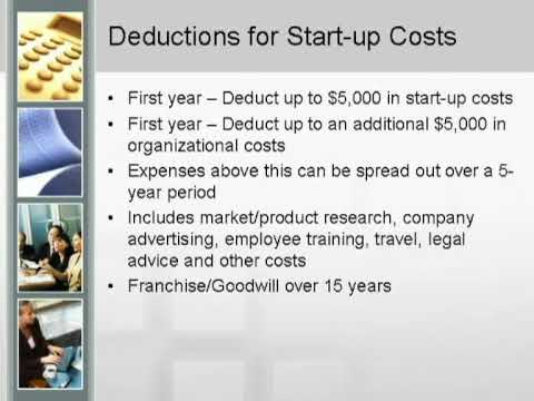 Small Business Tax Advice - Start-up Costs & Education Deductions - Part 10 of 10