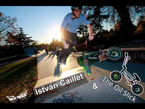 Istvan Caillet & the new Max Rider Oil Slick
