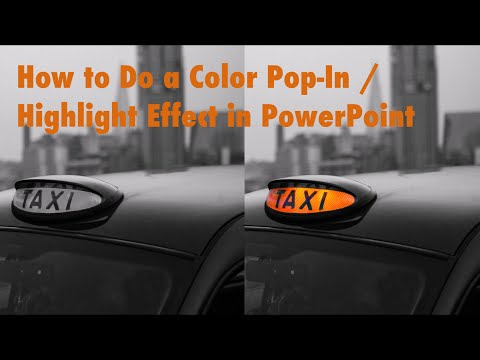 How to do a Color Pop Animation in PowerPoint