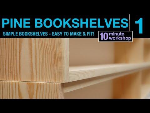 1 of 2: Simple Pine bookshelf #111