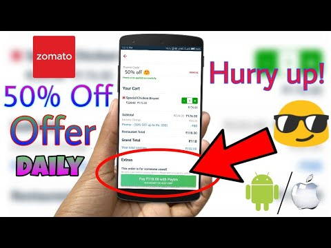 Get 50% off on any food you order online on Zomato 😍 (How to) - April 2018