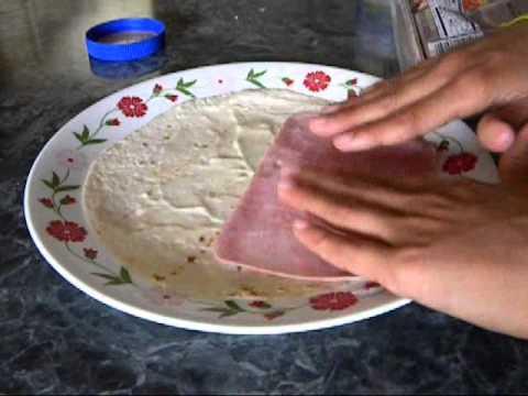 How to Make a Turkey/Ham wrap