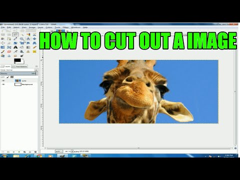 Gimp How To Cut Out A Image