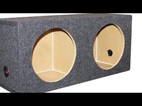Q Power Dual Sealed 12-Inch Subwoofer Box Enclosure