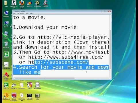 How to put subtitles to a download movie & Adding Permanent Subtitles into a Movie CHECK DESCRIPTION