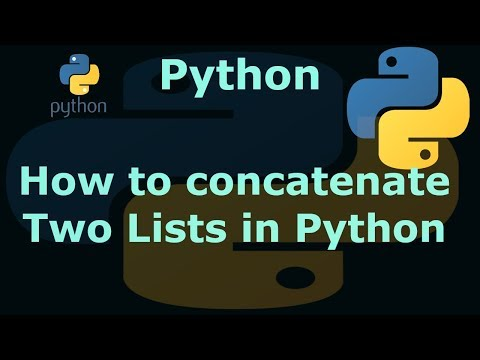 How to concatenate Two Lists in Python