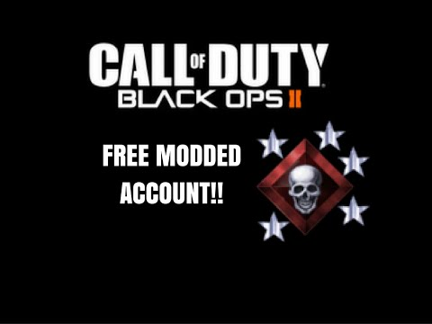 Call of Duty Black Ops 2: FREE MODDED ACCOUNT GIVEAWAY!!!!