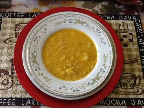 Sopa de fideos con papas (Sopa de queso) Paso a paso como preparar