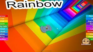 Jumping Into Rainbows ! Random Roblox Game Play with Cookie Swirl C