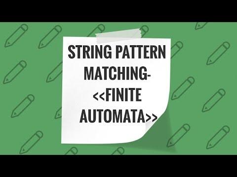 String Pattern Matching with Finite Automata
