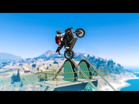 LUCKIEST STUNT LANDING EVER! - (GTA 5 Stunts & Fails)