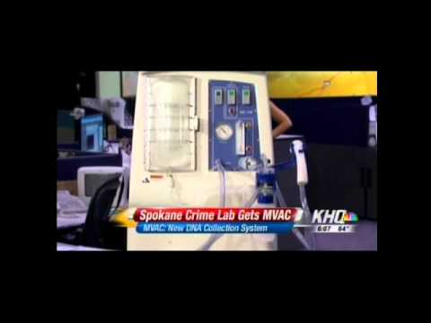 M-Vac Forensic DNA Collection System in the News - KHQ, Spokane, Washington