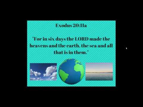 Bible Memory for Kids - Exodus 20:11