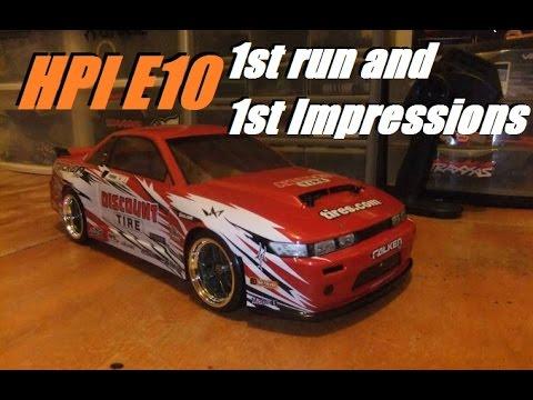HPI E10 drift: 1st run and 1st impression!!