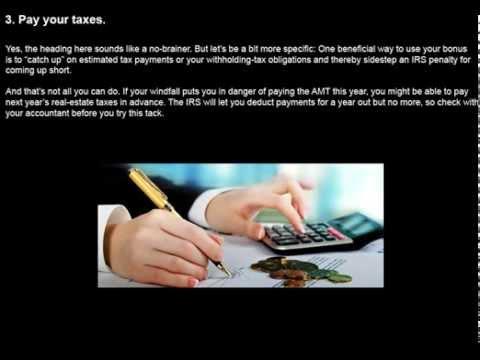 Five Tax Strategies Ltd For A Bonus Or Windfall