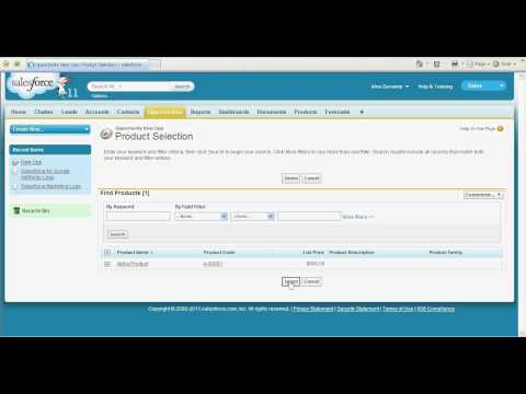 Products and Pricebooks in Salesforce