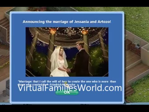 How To Get Married In Virtual Families - Cheats and Tips