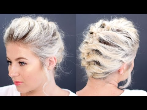 Short Hair Tutorial Updo Less Than 5 Minutes | Milabu