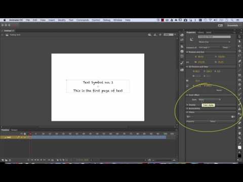 Animate CC working with text - how to fade text in and out