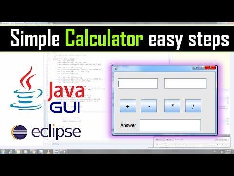 Simple calculator using java gui in eclipse
