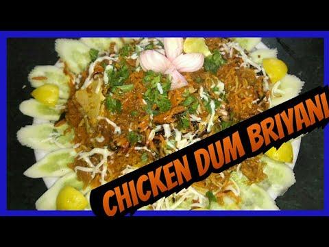 chicken dum biryani recipe...|| how to make homemade chicken dum biryani ||