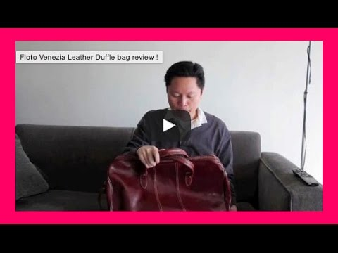 Floto Venezia Leather Duffle bag review !