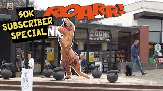 Extreme Roaring In Public 15 Dinosaur / T-rex 50,000 subs Special