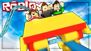 Roblox Adventures - FAILED ROLLER COASTER DISASTER! (Theme Park Tycoon 2)