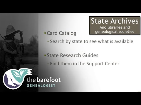 Genealogy Resources:  Researching in State Archives