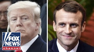 Trump tweetstorm targets Macron over nationalism rebuke