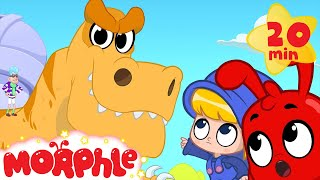 Dinosaur bandits steal a T-rex! Morphle the dinosaur superhero saves the day! Kids video