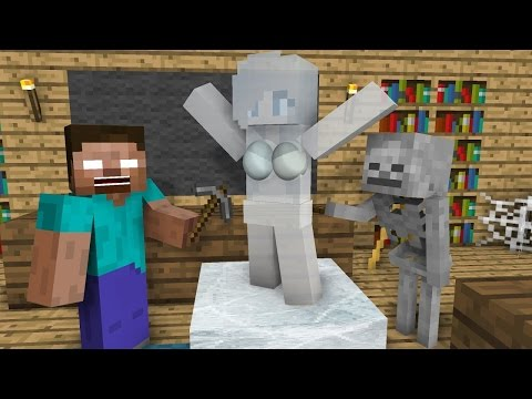 Monster School: Ice Sculpting - Minecraft Animation