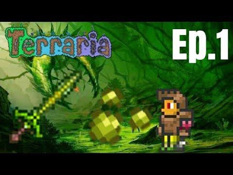 Terraria [1] เดินเล่นในjungle + หาjungle spores