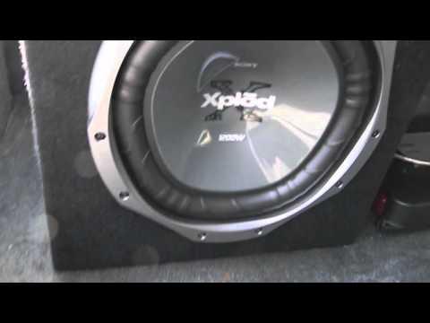 12 inch sony xplod subwoofer 1200 watts and 760 watt pioneer amplifier