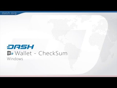 Dash: QT Wallet CheckSum Guide - Windows = G15E14