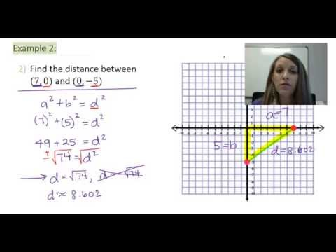 3: Finding the Distance Between Two Ordered Pairs Using Pythagorean's Theorem