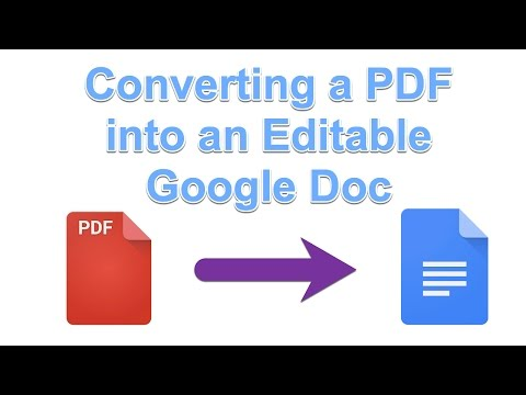 Technology Tip of the Week - Converting a PDF to an Editable Google Doc